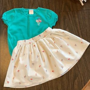 Gymboree sweater and skirt